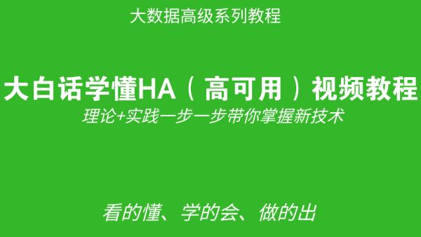 大白话学懂HA(高可用)视频教程