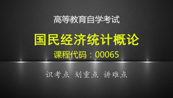 自考 国民经济统计概论 00065(教材+历年试题 共41讲)