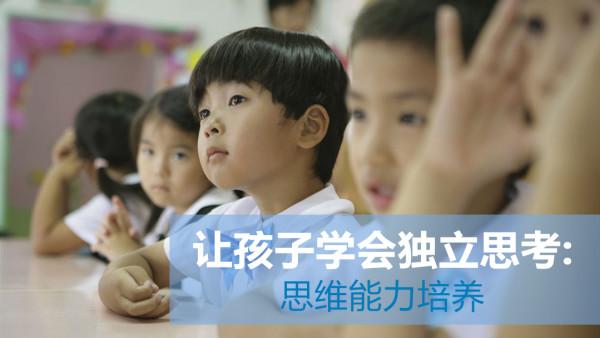 让孩子学会独立思考:思维能力培养