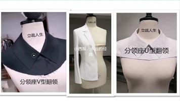 服装设计纸样服装打版裁剪服装制版之各种领型的配领方法