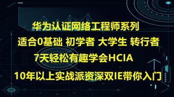 华为10年以上资深双IE亲授,网络工程师零到精通HCIA/HCIP/HCIE