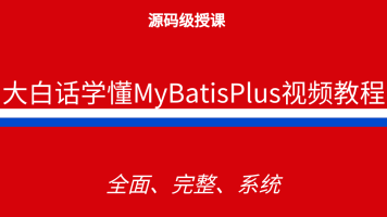 大白话学懂MyBatisPlus视频教程