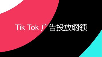 TikTok广告投放纲领!