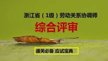 浙江省劳动关系协调师一级——综合评审