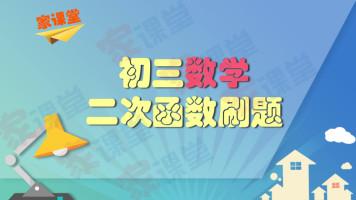 初三数学 二次函数刷题课【家课堂网校】