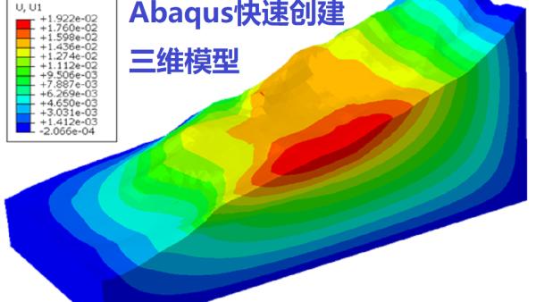 Abaqus中快速创建复杂拟三维滑坡模型-5分钟搞定