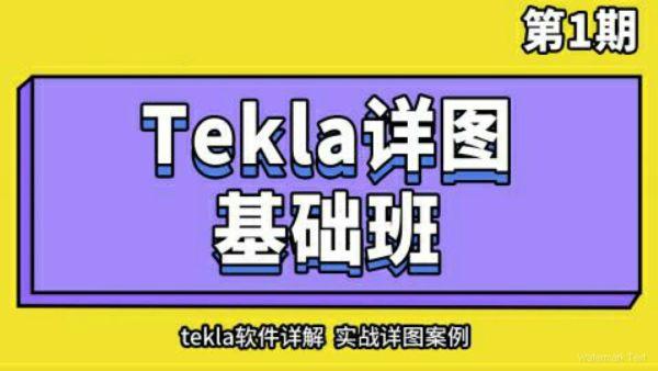 Tekla详图基础班