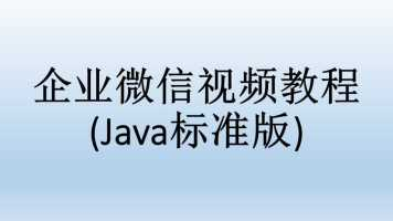 企业微信视频教程(Java标准版)