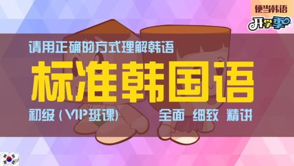 标准韩国语初级VIP班课(请用正确的方式理解韩语)