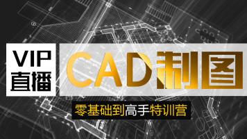 CAD零基础直播课【 平面图  立面 天花  量房  PS彩平面 】特训班