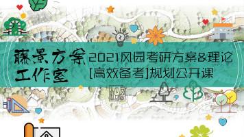 2021风园考研方案理论高效备考规划公开课