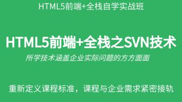HTML5前端+全栈之SVN技术教程
