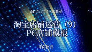 淘宝店铺运营管理:淘宝PC店铺模板
