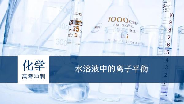 高中化学——水溶液中的离子平衡