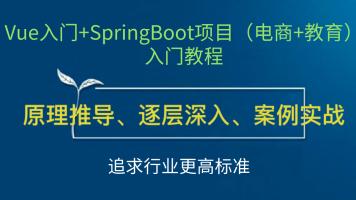 Vue入门+SpringBoot项目(电商+教育)入门教程