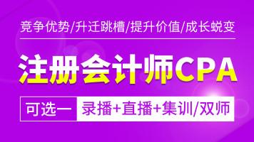 注册会计师CPA(可选一)录播+直播+集训