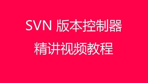 SVN 版本控制器精讲视频教程【Java】