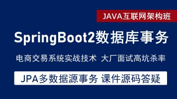 SpringBoot2 数据库事务入门到高阶项目架构实战  SpringBoot系列
