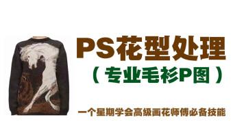 专业毛衫P图课程PS花型处理