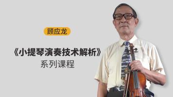 顾应龙《小提琴演奏技术解析》系列课程