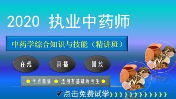 执业药师【2020中药学综合知识与技能】精讲班