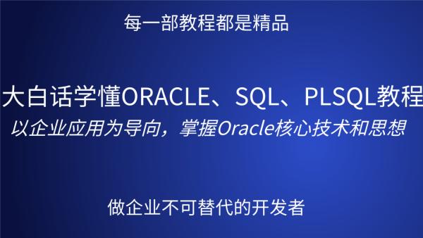 大白话学懂ORACLE、SQL、PLSQL视频教程