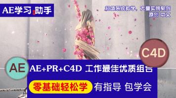 AE+PR+C4D特效合成提升班,全流程实战案例,福哥主讲