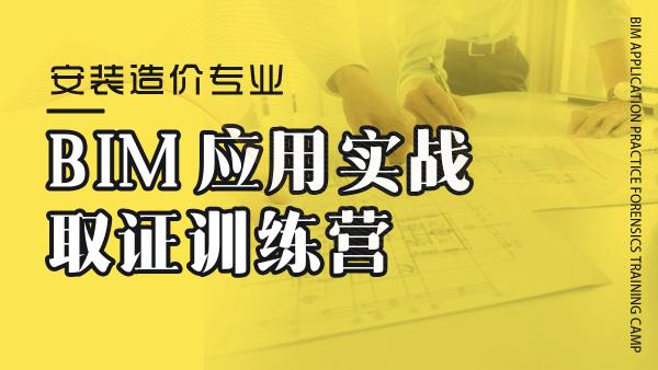 BIM应用实战取证训练营-机电造价