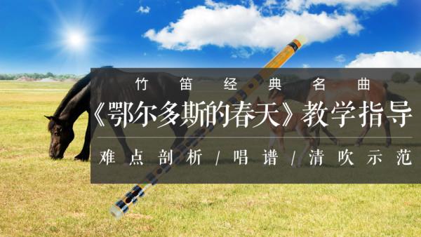 竹笛/笛子经典名曲《鄂尔多斯的春天》讲解、示范、教学