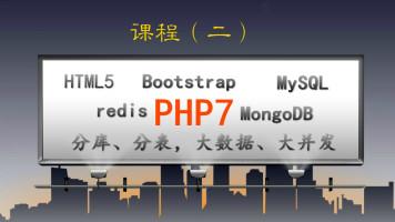 PHP7 +HTML5+Bootstrap+MySQL+redis+大数据大并发处理