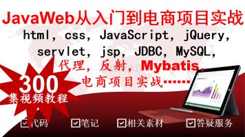 JavaWeb从入门到电商项目实战挑战万元高薪html servlet JSP jdbc