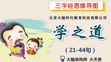 三字经思维导图系列课程3-学之道(21-44句)