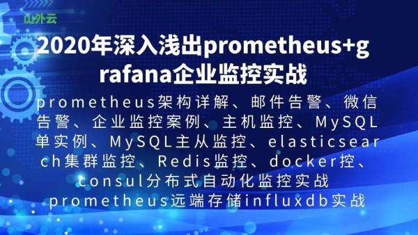 2020年深入浅出prometheus+grafana 企业监控应用实战