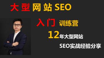 大型网站SEO入门训练营