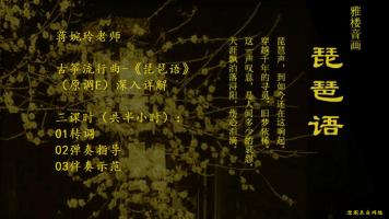 广西婉玲筝琴艺术中心【蒋婉玲老师】流行曲-琵琶语讲解