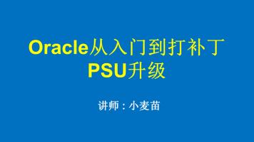 Oracle从入门到打补丁PSU升级