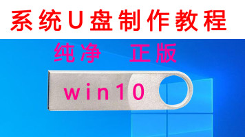 系统U盘制作教程win10纯净正版家庭版专业版原版安装重装PE启动课