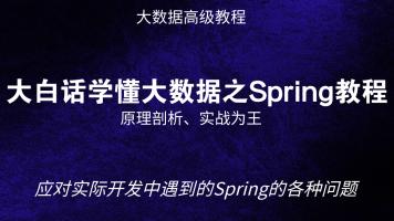 大白话学懂Spring教程(Java、大数据通用教程)