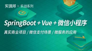 Java·SpringBoot+Vue+微信小程序前后端分离企业全栈项目实战
