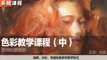 祝凯绘画——色彩系统教学课程(中)(绘画基础高级课程)
