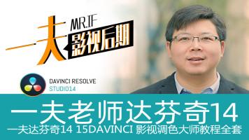 达芬奇14调色教程影视视频DaVinci Resolve 14零基础磨皮瘦脸