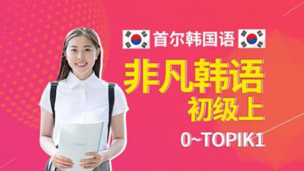 首尔韩国语非凡系列初级上(0~TOPIK1)