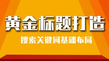 【K2】淘宝运营操作单品排名优化宝贝黄金标题打造