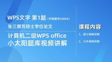 WPS选择题真题