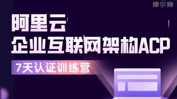 2021最新阿里云云原生互联网架构ACP认证课程【7天理论+实战】