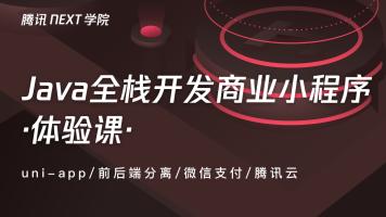【NEXT学院】Java全栈开发商业小程序【体验课】