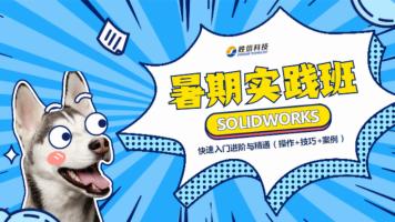 SOLIDWORKS快速入门进阶与精通暑期实践班(操作+技巧+案例)