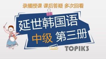 延世韩国语中级第三册精讲(TOPIK3级)【梓宁韩国语】