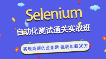 Selenium自动化测试通关实战班