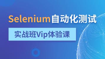 Selenium自动化测试实战班Vip体验课